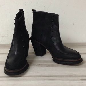 Rachel Comey Black Leather Suede Pull On Boot 8.5